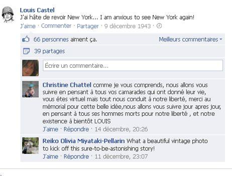 Les commentaires sont déjà encourageants pour Louis Castel sur Facebook (capture d'écran).