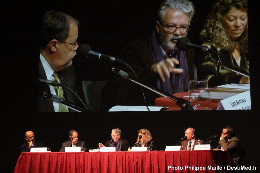 De gauche à droite : Ali Benmakhlouf – Jose Antonio Gonazalez Alcantud – Thierry Fabre – Barbara Cassin – Joseph Chetrit - Alain