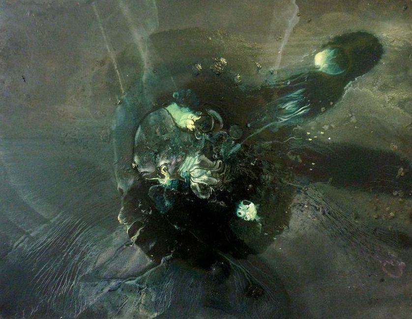 Le tant attendu retour de l'Indien des profondeurs Année de production : 2012 Huile sur toile Dimensions : 65 x 81 x 3 cm