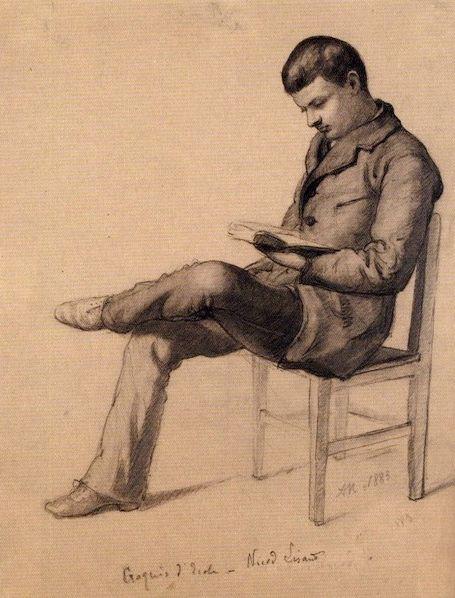 Paul Nicod lisant (1819-1898)