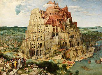 La tour de Babel par Pieter Bruegel l'Ancien, 1563.