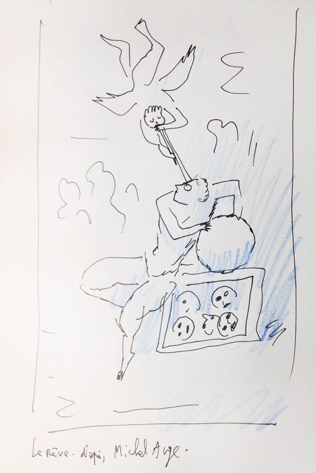 """""""Le rêve"""" d'après Michel-Ange, croqué par Joann Sfar"""