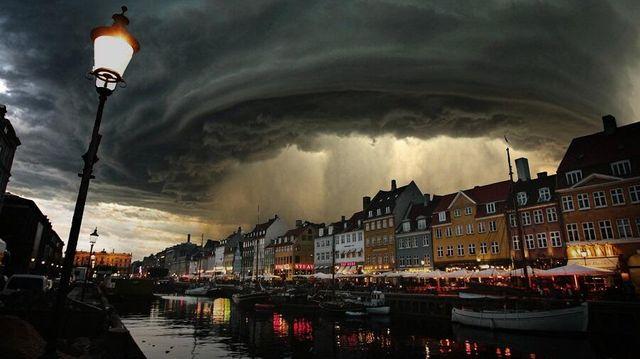 """Un """"fake"""" durant la tempête Xaver en 2013"""