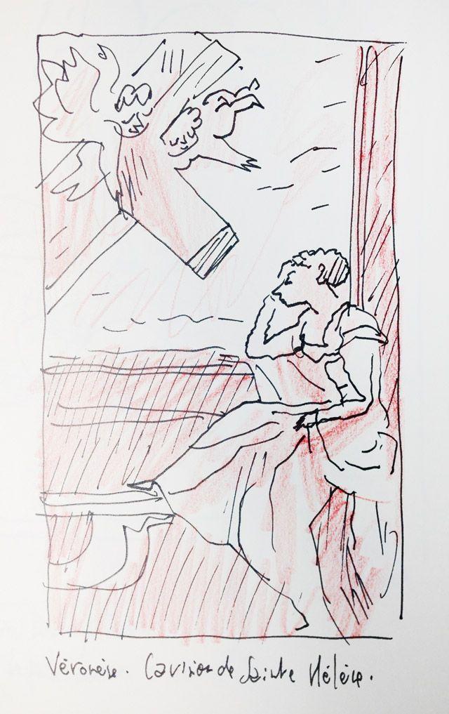 """""""Conversion de Ste Hélène"""" par Véronèse, croqué par Joann Sfar"""