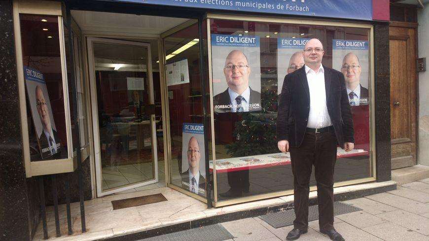 Eric Diligent, candidat sans étiquette, à la mairie de Forbach.