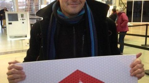 David, le 2 millionième visiteur du centre Pompidou Metz