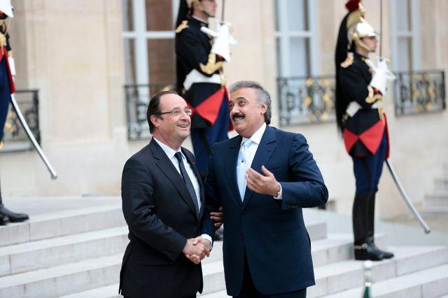 Le Prince Mutaib bin Abdullah al Saud et François Hollande