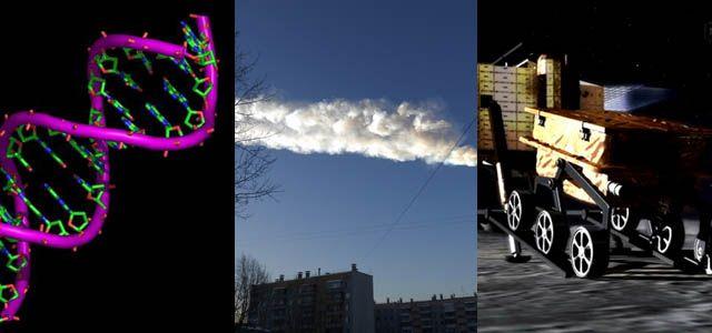 Molécule d'ADN - Météorite de Tcheliabinsk - Chang'e 3 -