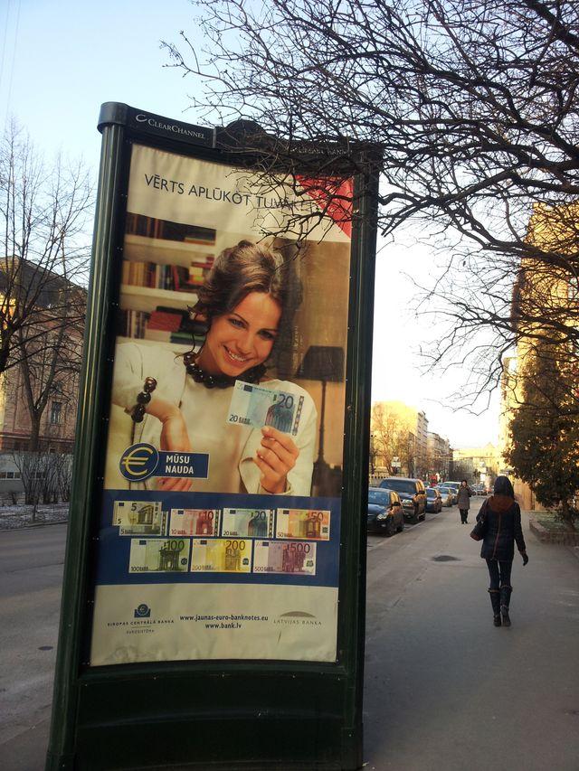campagne publique pour l'euro a riga
