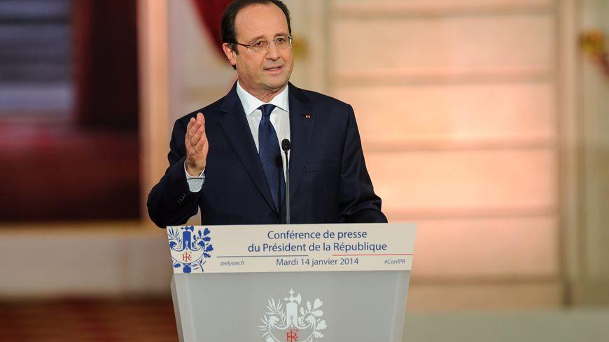 François Hollande face à la presse, le 14 janvier 2014