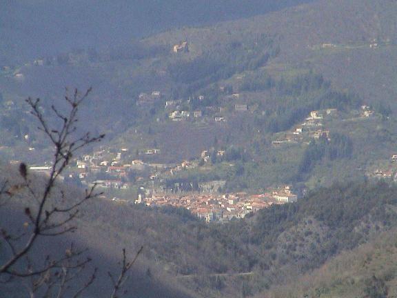 Le Vigan - Vue prise depuis le massif de l'Oiselette de la ville