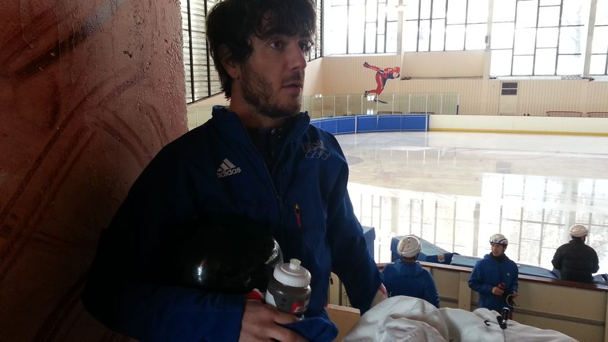 Thibaut Fauconnet à la patinoire de Font-Romeu