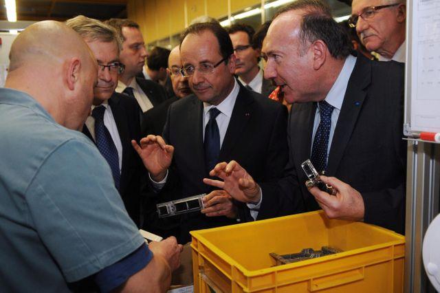 Pierre Gattaz et François Hollande
