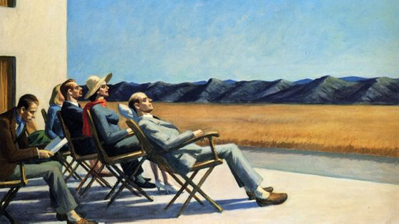 Edward Hopper, People in the sun (© 2011 Photo Smithsonian American Art Museum / Art resource )