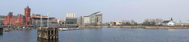 Panorama de la baie de Cardiff