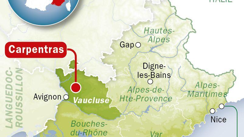 Carte de localisation de Carpentras