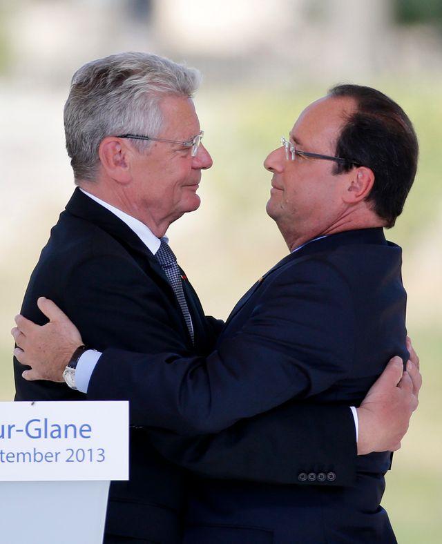 Francois Hollande et le Président allemand Joachim Gauck à Oradour-sur-Glane