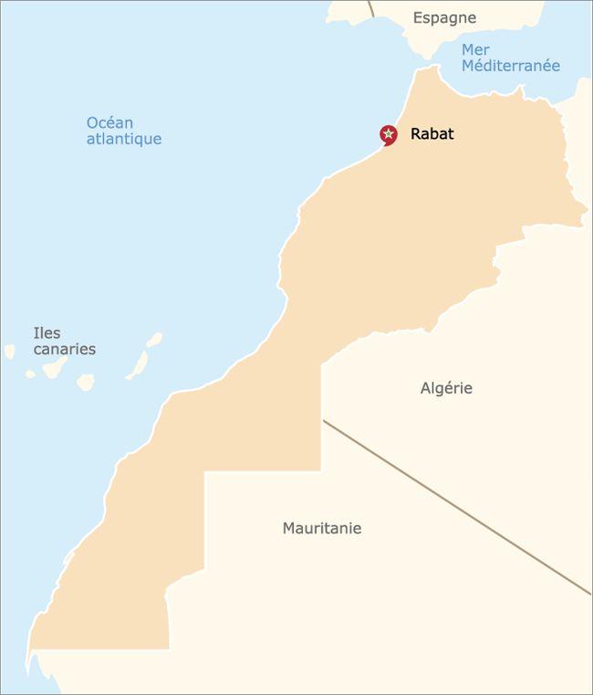carte officielle du maroc