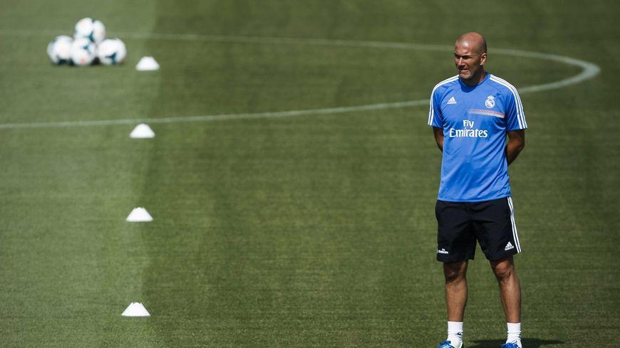 Zidane lors d'une séance d'entraînement du Real Madrid