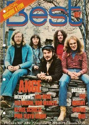 Couverture de la revue Best avec le groupe Ange