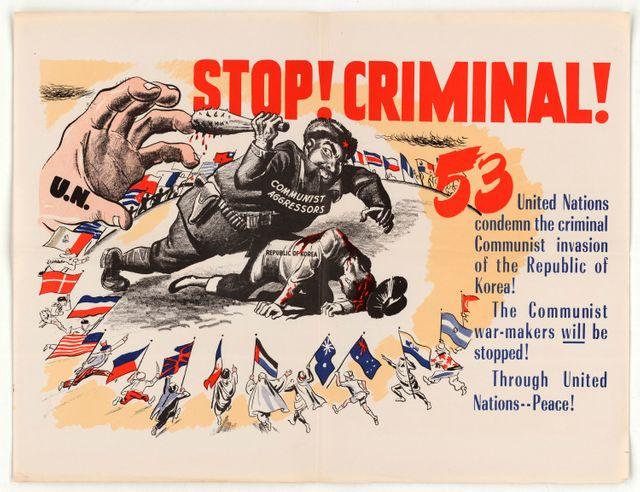 Affiche de propagande : Stop Criminal !