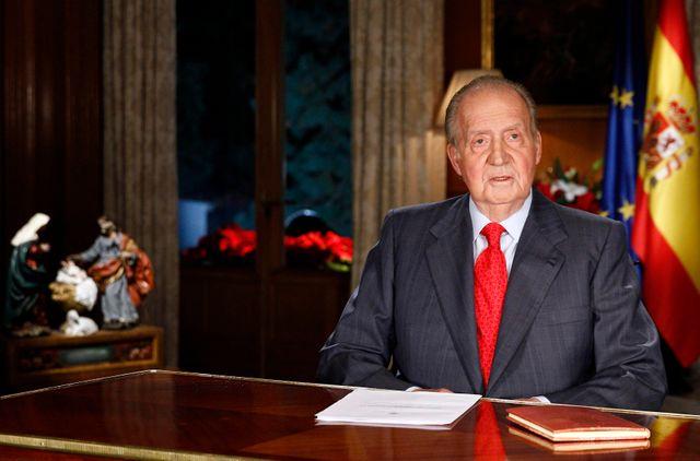 Le Roi d'Espagne Juan Carlos durant son discours de Noël