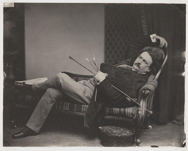 L'enfance de Pantagruel, vers 1873 Aquarelle, plume et encre brune sur traits de crayon, rehauts de gouache blanche
