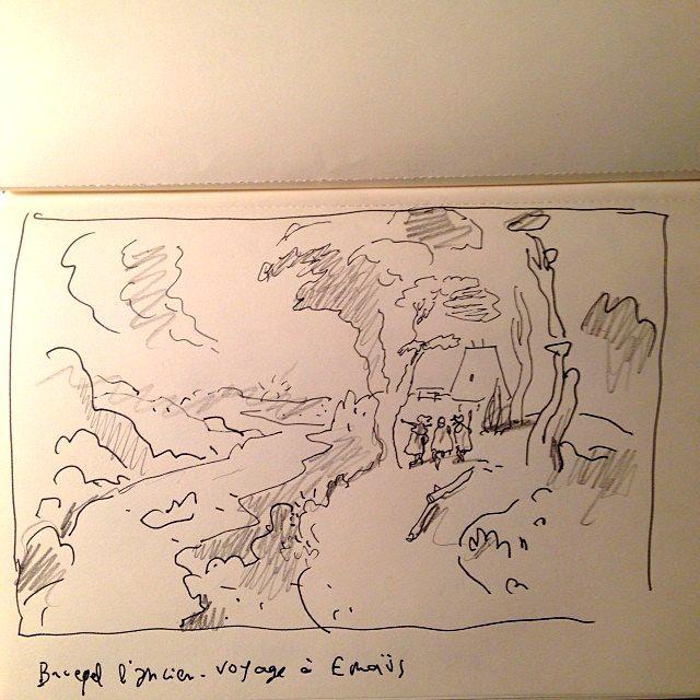 Brueghel l'ancien - Sfar - Le voyage à Émmaüs