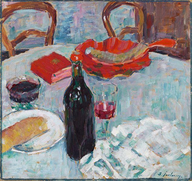 Nature morte à la bouteille de vin, Alexej Georgewitsch von Jawlensky, 1904
