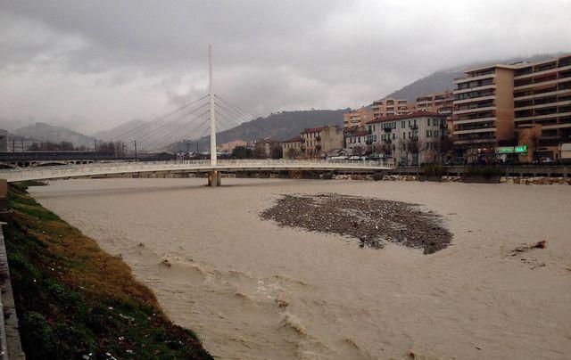 Violentes pluies, ici à Nice