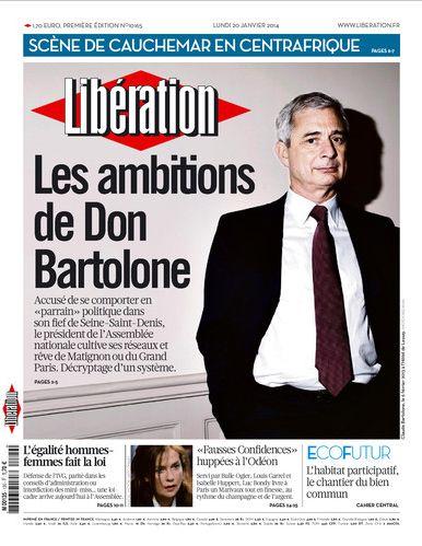 Couverture de Libération - 20.01.2014