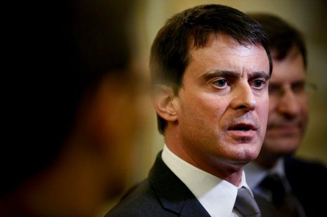 Manuel Valls à la mairie d'Hénin-Beaumont pour les voeux du maire Eugène Binaisse