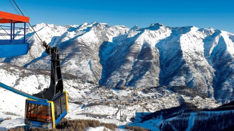 Le station de ski d'Auron, dans les Alpes-Maritimes