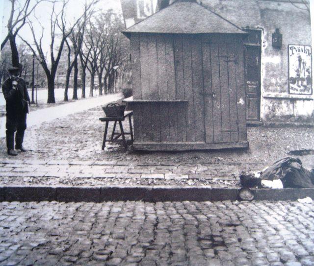 Une rue d'Odessa après les affrontements lors de la Révolution de 1905