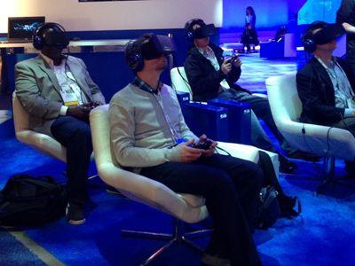 L'Oculus Rift testé sur le site d'Intel lors du CES