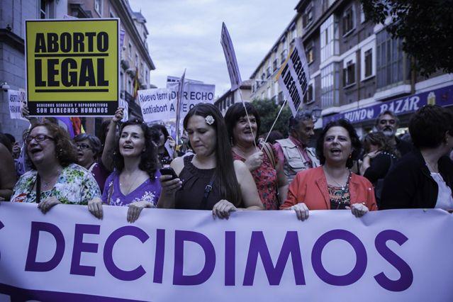 Protestation pro-avortement contre la réforme de la ministre de la Justice