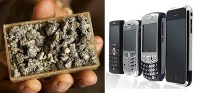 Minerais et Afrique et électronique