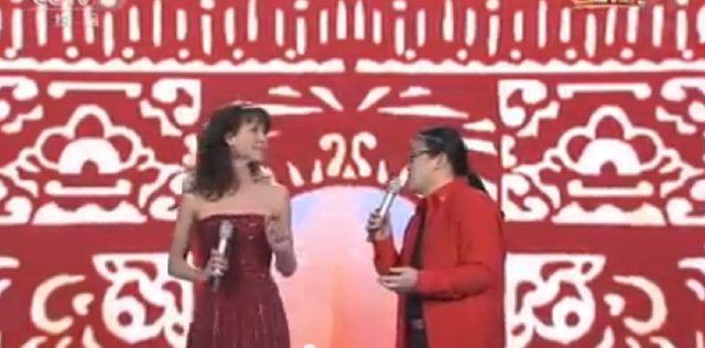 Sophie Marceau sur le TV chinoise