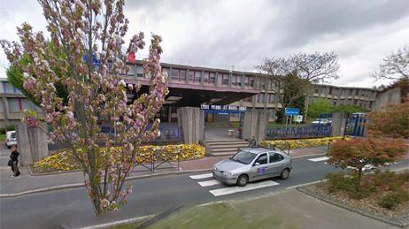 Le lycée Pierre et Marie Curie à Saint-Lô (capture d'écran).