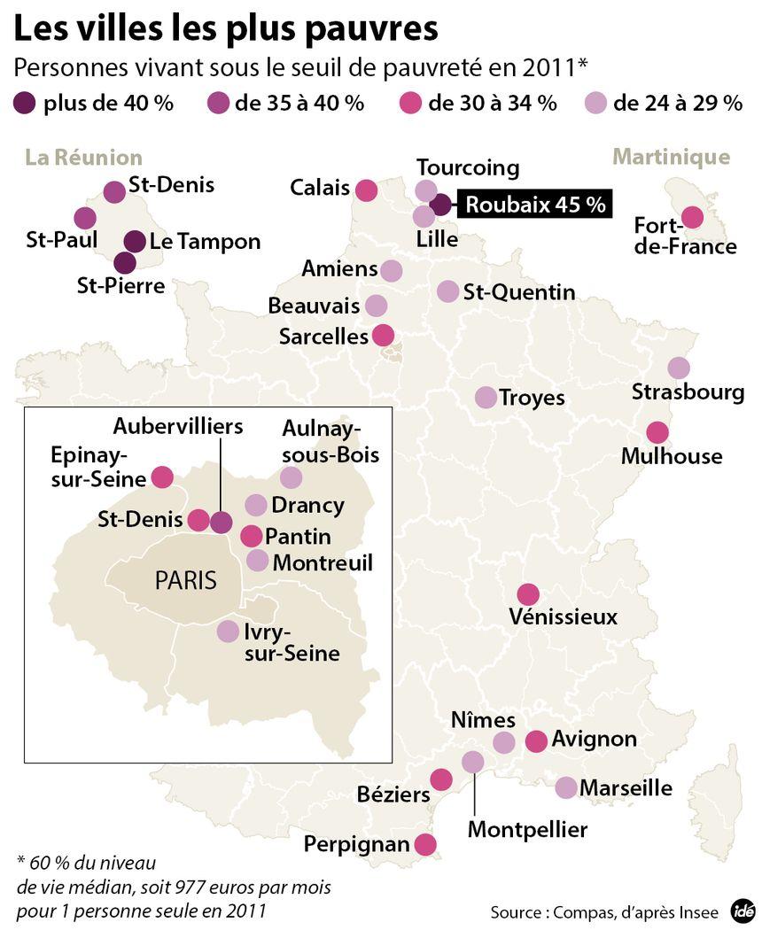 Roubaix Ville La Plus Pauvre De France
