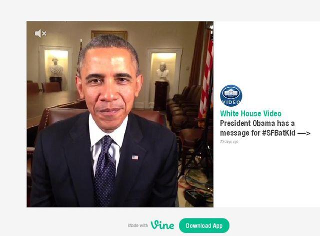 Obama vous parle sur Vine