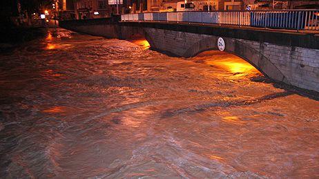 Crue du Calavon le  14 déc 2008