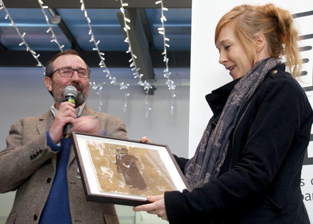 Chloé Cruchaudet lors de la remise officielle du Prix de la critique BD