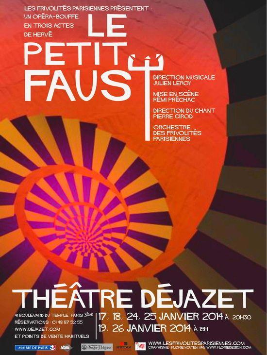 « Le Petit Faust » dans le théâtre de son compositeur Hervé ! l'un des plus vieux théâtre de Paris : Le Déjazet.