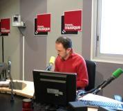 Dans le studio 141, Martin Pénet, pendant sa chronique