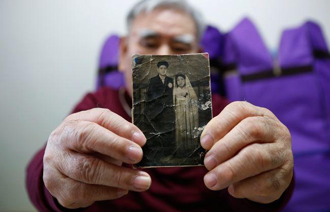 Jang Choon, l'un des Sud-Coréens sélectionnés pour rencontrer sa famille, au Nord, qu'il n'a pas vu depuis 1953.