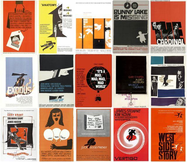 Affiches créées par Saul Bass