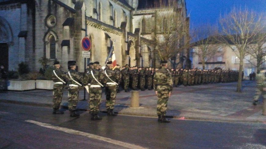Prise d'armes à Mourmelon-le-Grand le 19 février dernier