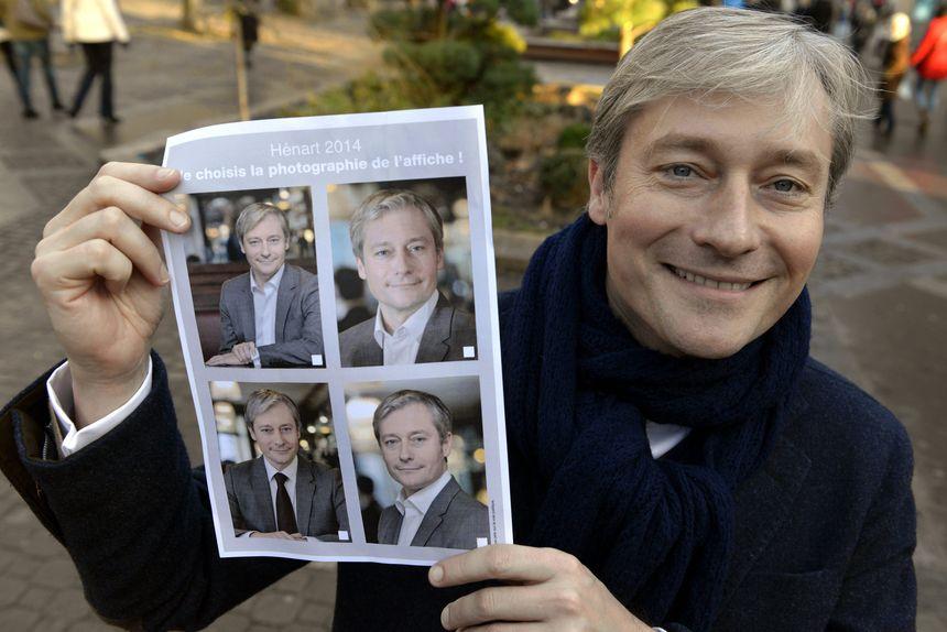 Laurent Hénart, le 11 janvier 2014. Le candidat UDI à la mairie de Nancy demande aux Nancéiens de choisir sa photo de campagne.