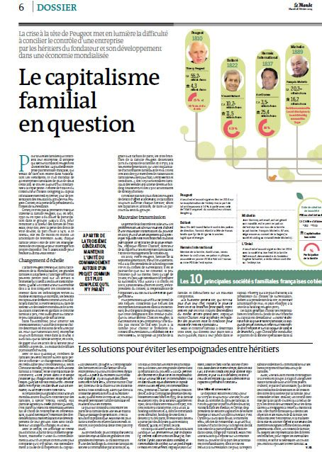 Le capitalisme en question dans le Monde
